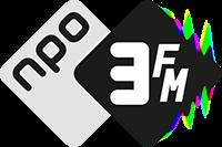 Het logo van 3FM op NPO